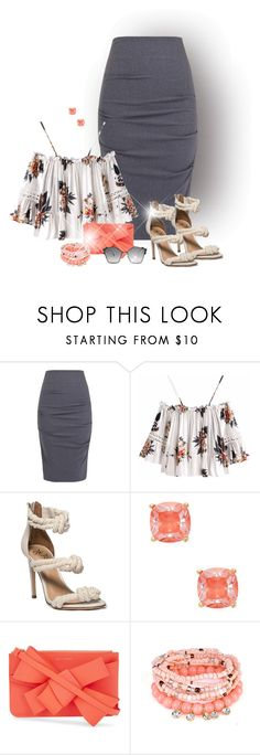 """Eye Candy"" by laaudra-rasco ❤ liked on Polyvore featuring Nicole Miller, Kate Spade, Delpozo and Fendi"