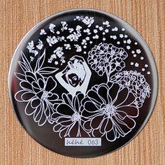 # 22633 JPY ¥238 1枚 可愛い女の子&花ネイルアートスタンピングテンプレートイメージプレート【正規品】hehe-063 - harunouta.com