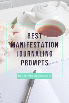 Manifestation Journal, Manifestation Law Of Attraction, Law Of Attraction Tips, Hand Lettering For Beginners, Fitness Journal, Pinterest For Business, Best Vibrators, Focus On Yourself, Journal Prompts