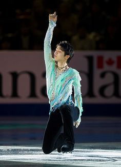 Yuzuru Hanyu of Japan skates during the Exhibition Gala on day three of Skate Canada International ISU Grand Prix of Figure Skating November 2015 at...