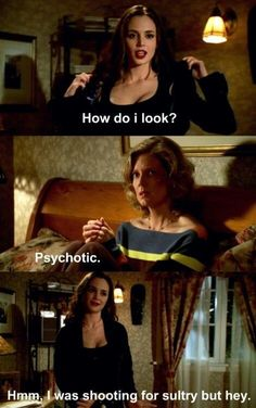 Buffy: Faith looking psychotic or sultry.