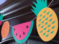 Fruity banner, birthday party banner, tutti fruiti banner, summer party banner, birthday decoration