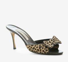 Manolo Blahnik Leopard Print Sandal live them!