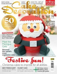 #CakeDecoration #Cakedesign #cakes Heaven - Winter 2015 £4.99