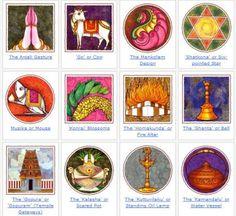 Sacred Symbols: Image Gallery of Hindu Symbols Hindu Symbols, Sacred Symbols, Hinduism History, Nataraja, Hindu Art, Worship, Folk Art, Cow, Gallery