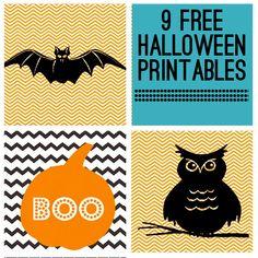 9 Free Halloween Printables from Jones Creek Creations