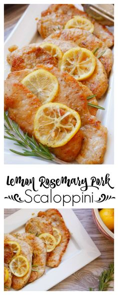 Lemon Rosemary Pork Scaloppini - this recipe is so quick and easy but amazingly delicious | Jordan's Onion