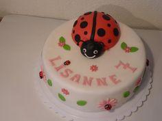 Verjaardagstaart lieveheersbeest