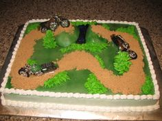 Motorcycle grooms cake design!