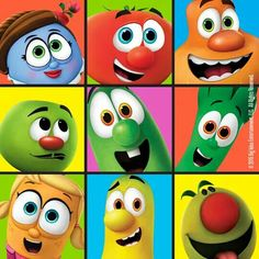Veggie tales♡ Veggie Tales Party, Veggietales, Getting To Know You, Make You Smile, Scooby Doo, Veggies, Christian, Make It Yourself, Dolls