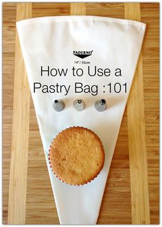 How to use a pastry bag advice & tips ( excuse the pun! ) for using a pastry bag. Just Desserts, Delicious Desserts, Dessert Recipes, Cake Decorating Tips, Cookie Decorating, Baking Tips, Baking Recipes, Baking Basics, Just In Case