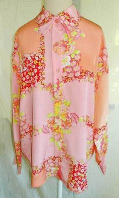 New with Tags Diane von Furstenberg DVF Silk Print Blouse Tunic Flowers Pink M