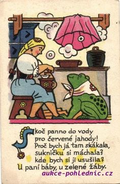 Children's Book Illustration, Czech Republic, Folklore, Childrens Books, Illustrators, The Past, Posters, Retro, Pictures