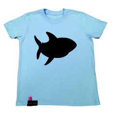 Shark Chalk Tee Youth now featured on Fab.