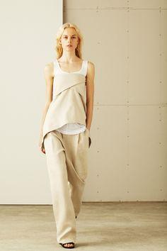 10 Crosby Derek Lam,  Весна-лето 2014, Ready-To-Wear, Нью-Йорк Складки и песок