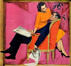 "Morgan Kane - This painting illustrated the story ""The Year Of Discontent"" in the Saturday Evening Post in June 1957."