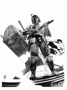 Star Wars - Boba Fett by Adam Hughes *