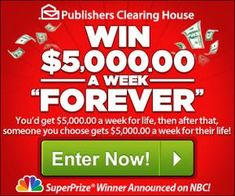 Enter to Win Publishers Clearing House Sweepstakes - Bing images Instant Win Sweepstakes, Online Sweepstakes, Win Online, Lotto Winning Numbers, Win For Life, Winner Announcement, Publisher Clearing House, Enter To Win, Tv Commercials