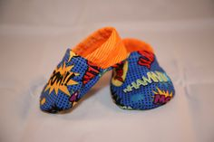 Superhero Baby Booties by KreativityByKarrie on Etsy, $15.00