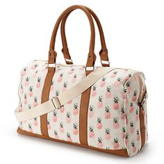 Shop Kohl's for your favorite travel bags, including this Candie's pineapple overnighter duffel bag. Cute Pineapple, Pineapple Print, Cute Bags, Purse Wallet, Travel Bags, Purses And Bags, Herschel, Shoe Bag, Louis Vuitton