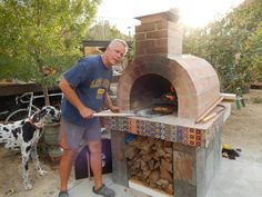 This All-American Football-Loving Army Vet with a passion for Wood Fired cooking built this beautiful wood fired brick pizza oven under the direct supervision of Chaos - the Great Dane! Thx for your service Carl.. Go NAVY! ;)    BrickWoodOvens.com