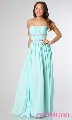 Long Strapless Prom Dress at PromGirl.com