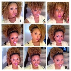 Here are a few of the many different ways you can rock your #crochetbraids! 1. Down with hair out of face 2. #Pineapple #updo 3. Down with hair in face 4. Lose Pony Tail or Puff 5. Hair to one side 6. Twist in front with hair fluffed in the back 7. Hump in the front with hair down 8. High Bun 9. Tight Pony Tail Crochets braids allow your natural hair to rest and grow. The brand:FreeTress and the curl pattern: #bohemianbraid naturalhair #protectivehairstyles!