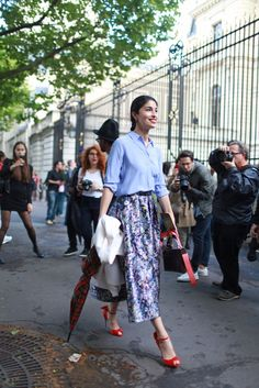 Paris Couture Week street style. [Photo by Kuba Dabrowski]