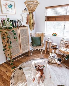 The 10 Baby Nursery Trends for 2019 you need to know, Baby Room Room boho Boho Nursery, Nursery Neutral, Nursery Room, Nursery Decor, Natural Nursery, Babies Nursery, Kids Rooms Decor, Simple Baby Nursery, Nature Themed Nursery
