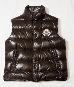 Mens Classic Moncler Vest in Brown [2900195] - £139.08 :
