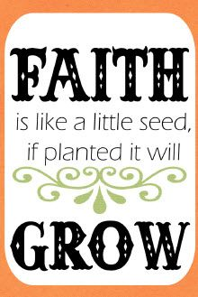Faith Seed Packet Printable - Print these out and attach to seed packets. Inexpensive but sweet teacher appreciation gift. I'm going to look for wildflowers.