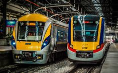 Download wallpapers KTM Class 91, KTM Class 92, trains, electric trains, passenger transport, Kuala Lumpur Railway Station