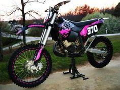ktm pink dirt bike