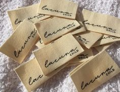 Sewing Labels, Fabric Labels, Tag Design, Label Design, Textiles, Kids Labels, Swing Tags, Clothing Labels, Printing Labels