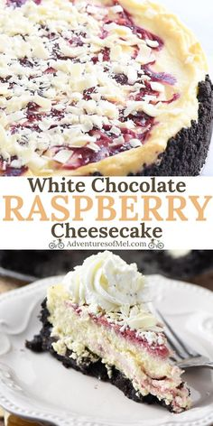 Make Olive Garden's white chocolate raspberry cheesecake at home. Who doesn'… Make Olive Garden's white chocolate raspberry cheesecake at home. Who doesn't love a decadent homemade dessert with a raspberry swirl and Oreo cookie crust? Raspberry Swirl Cheesecake, White Chocolate Cheesecake, Raspberry Chocolate, Olive Garden White Chocolate Raspberry Cheesecake Recipe, Olive Garden Cheesecake Recipe, White Chocolate Desserts, White Desserts, Raspberry Desserts, Lemon Desserts