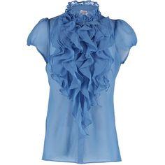 Saint Tropez Blouse infinity found on Polyvore featuring tops, blouses, blue blouse, saint tropez and blue top