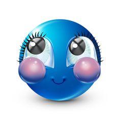 Blue Emoji, Emoji Love, Funny Emoji Faces, Funny Emoticons, Overlays, Happy Smiley Face, Emoji Characters, Emoji Pictures, Gifs