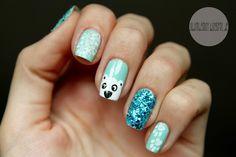 mix and match polar bear mani