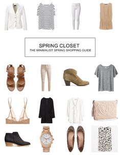 TOMORROW AT DAWN: The Minimalist Spring Shopping Guide