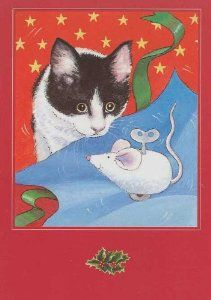 white cat christmas cards on pinterest - Google Search