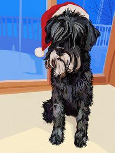 """Archie Santa"" #iPadArt by Susan Murtaugh #ChristmasArt #MobileDigitalArt"