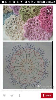 Crochet Flowers, Doilies, Crochet Projects, Needlework, Coasters, Crochet Earrings, Knitting, Pretty, Crocheting