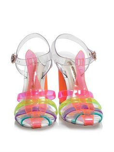 JELLY SANDALS...not sure I could pull these off but would be cool to own!