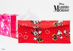 Make an envelope with our Minnie Mouse fabric!