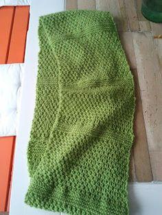 Breien MET haken en ogen: Groene sjaal