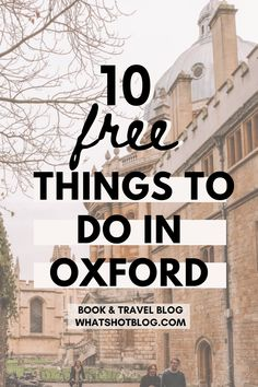 The best list of free things to do in Oxford England written by an Oxford University student! These are plenty of cool things to do in Oxford without spending a penny on an Oxford day trip or weekend getaway. #whatshotblog #oxford #traveltips #england Skye Scotland, England And Scotland, Highlands Scotland, Ways To Travel, Travel Tips, Budget Travel, Cornwall England, Yorkshire England, Yorkshire Dales