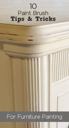 10 Paint Brush Tips & Tricks For Furniture Painting - There are lots of things you can do so that when you paint furniture with a paint brush, the finish comes… Paint Furniture, Furniture Projects, Furniture Makeover, Diy Projects, Furniture Refinishing, Restoring Furniture, Bedroom Furniture, Laminate Furniture, Dresser Makeovers