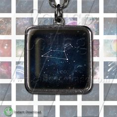 1x1 Inchies Collage Sheet Zodiac Galaxy Instant Download by calicocollage on Etsy
