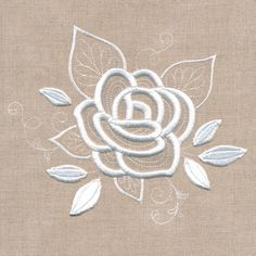 Machine Embroidery Designs at Embroidery Library! Back Stitch Embroidery, Cutwork Embroidery, Hand Embroidery Flowers, Applique Embroidery Designs, Embroidery Stitches, Rose Applique, Indian Embroidery, Crochet Placemat Patterns, Broderie Simple