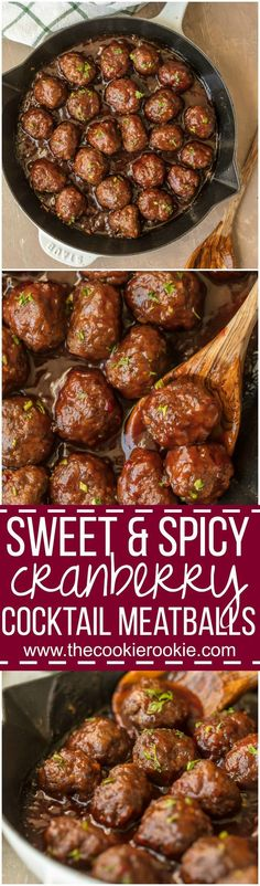 Sweet and Spicy Cranberry Cocktail Meatballs ~ Sure to become a crowd favorite at your next party!